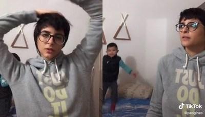 """El divertido """"Tik-Tok"""" de Pati Ginzo y su hijo"""