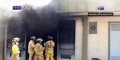 ANDE arde en llamas en Santa Rosa del Aguaray