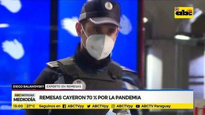 Remesas cayeron 70% por la pandemia