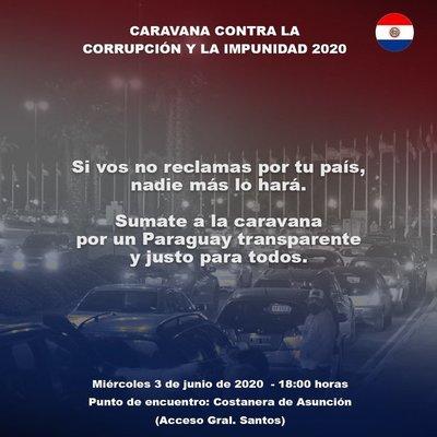 Convocan caravana contra la corrupción en compras del Estado