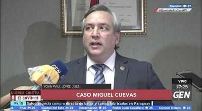 HOY / Juez ratifica la prisión preventiva para el diputado Miguel Cuevas