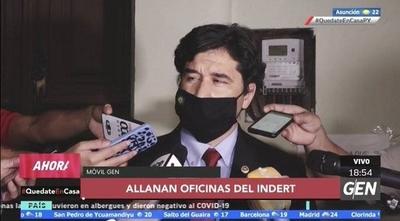 HOY / Fiscalía allana las oficinas del Indert