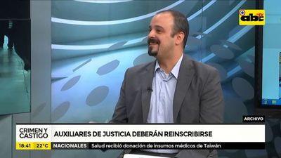 Presentan nuevo registro para auxiliares de justicia