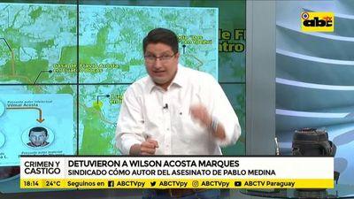 Detienen a Wilson Acosta Marques