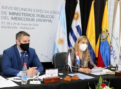 Abren la reunión virtual de fiscales del Mercosur