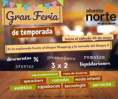 En el Abasto Norte está en marcha la Gran Feria de temporada