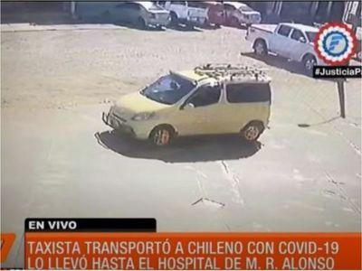 Buscan a taxista que trasladó a camionero con coronavirus al hospital