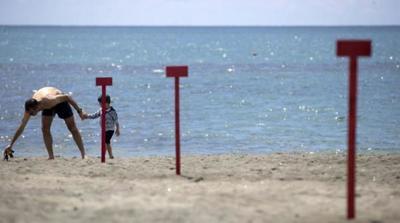Italia reabrió sus playas bajo estrictas medidas de seguridad