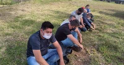 Detuvieron a 9 personas que ingresaron en lancha desde Brasil