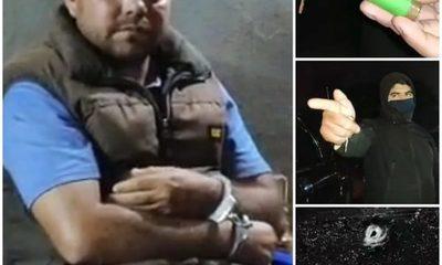 Borracho detenido tras crear incidentes en estación de servicios y enfrentarse a tiros con la Policía