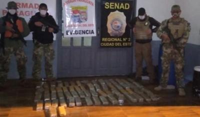 Incautan marihuana durante patrulla nocturna