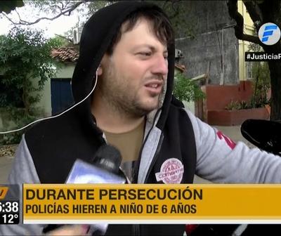Padre del niño herido: ''Los policías no me dejaron auxiliar a mi hijo''
