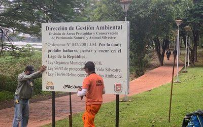 Instalan carteles para cuidar la vida silvestre del Lago de la República
