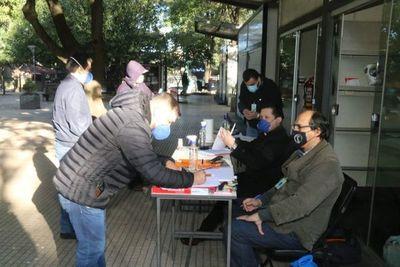 Desde hoy, procesados firman libro de actas en la plaza frente al Palacio de Justicia