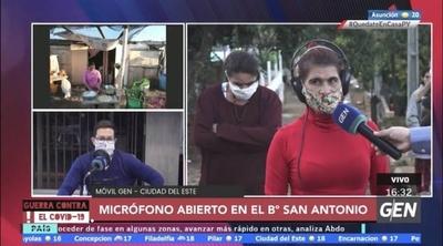 HOY / Pobladora del B° San Antonio de CDE reclama el pago del programa Tekoporã