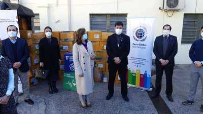 La ONG Pacto Global dona equipos de protección a Salud para la lucha contra el Covid