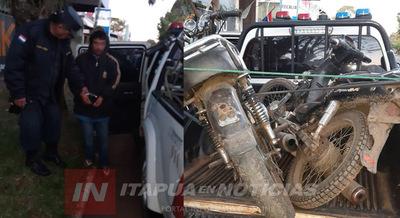 RECUPERAN MOTOCICLETA HURTADA EN ATINGUY Y APREHENDEN A SUP. RESPONSABLE