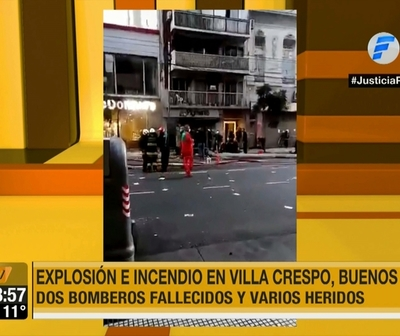 Explosión deja dos bomberos muertos en Argentina