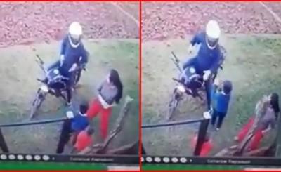 """Niño """"enfrentó"""" a motochorro que asaltaba a su mamá en CDE"""