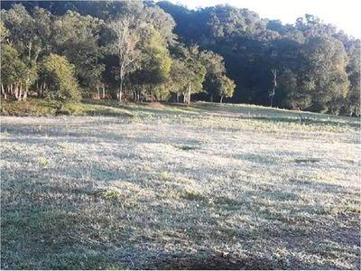 Reportan primeras heladas en algunas zonas del país