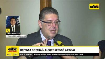 Defensa de Efraín Alegre recusó al fiscal