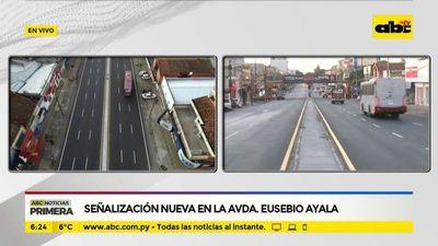 Señalización nueva en la avenida Eusebio Ayala