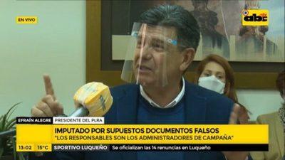 Efraín Alegre recusa a fiscal que lo imputó