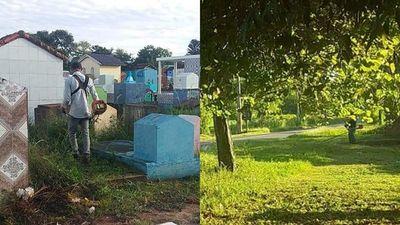 Santa Rosa; mandan limpiar cementerio y accesos a la ciudad