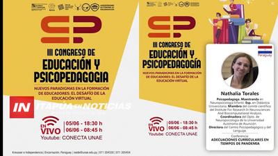 UNAE INVITA A CONGRESO DE EDUCACIÓN Y PSICOPEDAGOGÍA ONLINE
