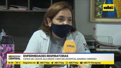 Aumentan consultas respiratorias en Hospital de Barrio Obrero