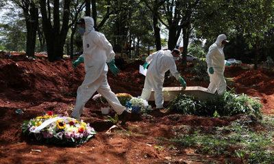 Brasil se convierte en el tercer país con mayor cantidad de muertos por covid-19