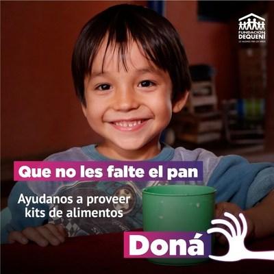 Dequení recibe donaciones para asistir a familias afectadas por la pandemia