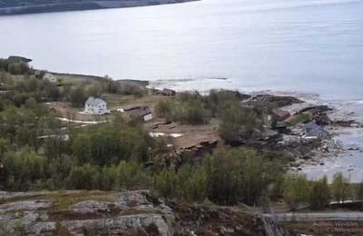 El deslizamiento de tierra que se llevó ocho casas en Noruega