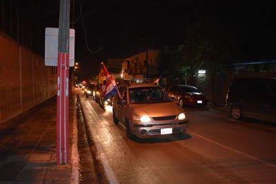 San lorenzanos realizaron caravana contra la corrupción