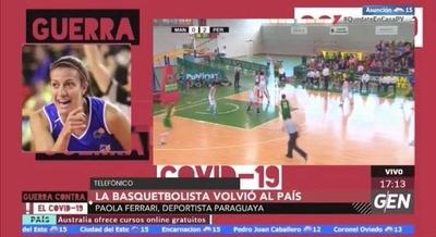 HOY / La basquetbolista Paola Ferrari volvió al país