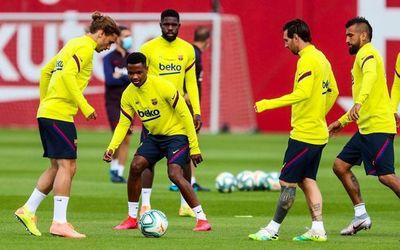 Messi entrenó con el grupo y jugará ante Mallorca