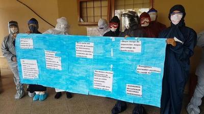 Enfermeras del área respiratorio del HRCO piden la bonificación que se les había prometido – Prensa 5