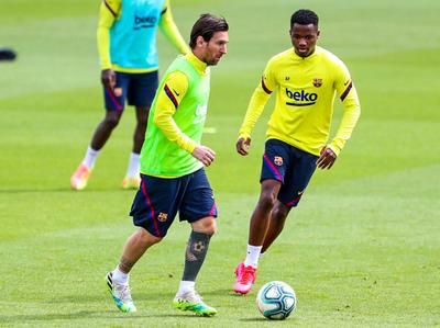 Messi, Semedo y Monchu vuelven a ejercitarse con el grupo