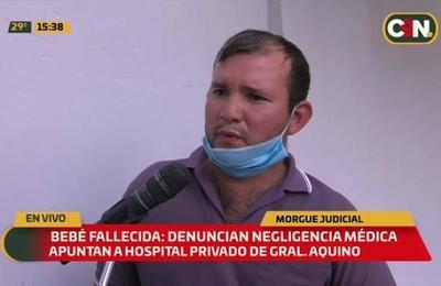Recién nacida muerta: Denuncian negligencia médica