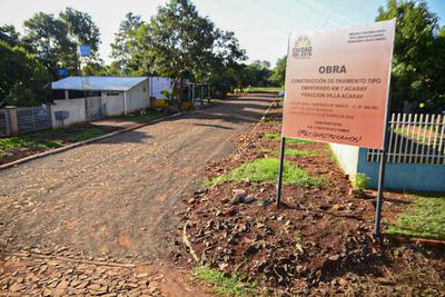 Comuna anunció habilitación de 45 nuevos empedrados