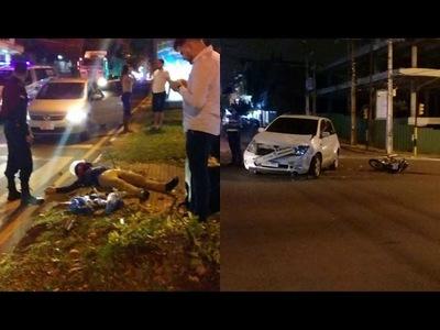 APARATOSO ACCIDENTE SOBRE LA AVDA. CABALLERO DE ENCARNACIÓN
