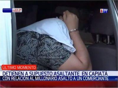Cae presunto cabecilla de asalto a un comerciante en San Lorenzo