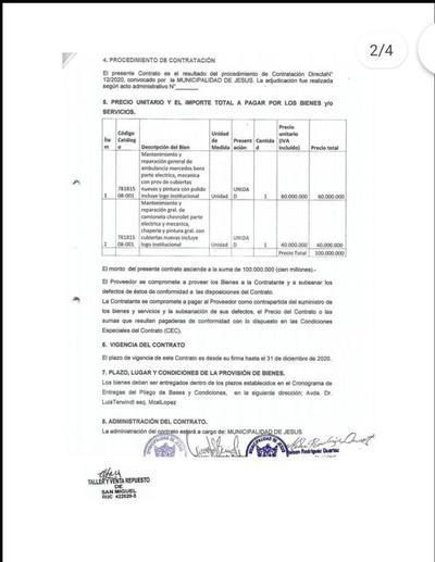 Denuncian supuestas irregularidades en la Municipalidad de Jesús