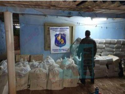 Policía Antinarcóticos incautó más de 3 toneladas y media de marihuana en Capitán Bado