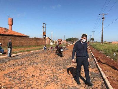 Avanzan trabajos de mejoramiento vial sobre callejón Mafucci