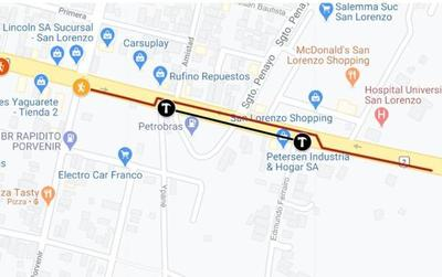Desde hoy martes habrá desvío en km 15 de la Ruta PY02