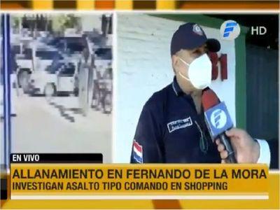 Hallan supuesto vehículo utilizado para asalto en shopping