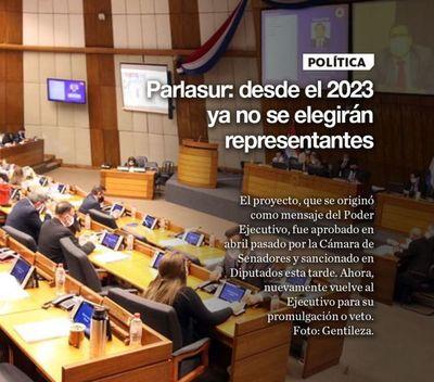 Parlasur: desde el 2023 ya no se elegirán representantes