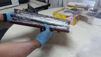 Intentaron enviar cocaína a Hong Kong dentro de un amplificador