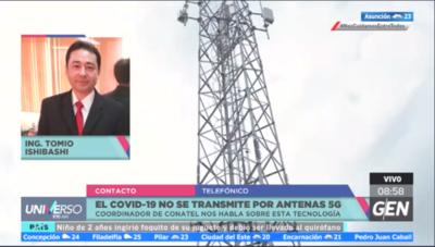 HOY / Alberto Tomío Ishibashi, coordinador del Gabinete Técnico de la Conatel, señaló que el Covid-19 no se transmite por 5G